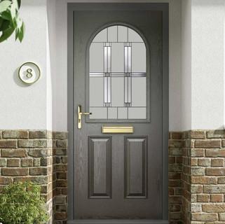 Beckett Door in Basalt Grey with Blasket Glass