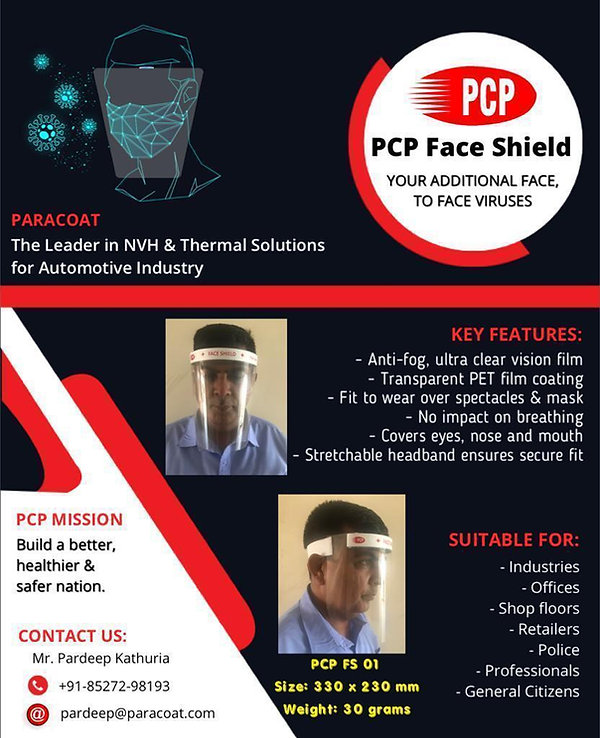 PCP Face Shield - Your Additional Face, To Face Viruses.