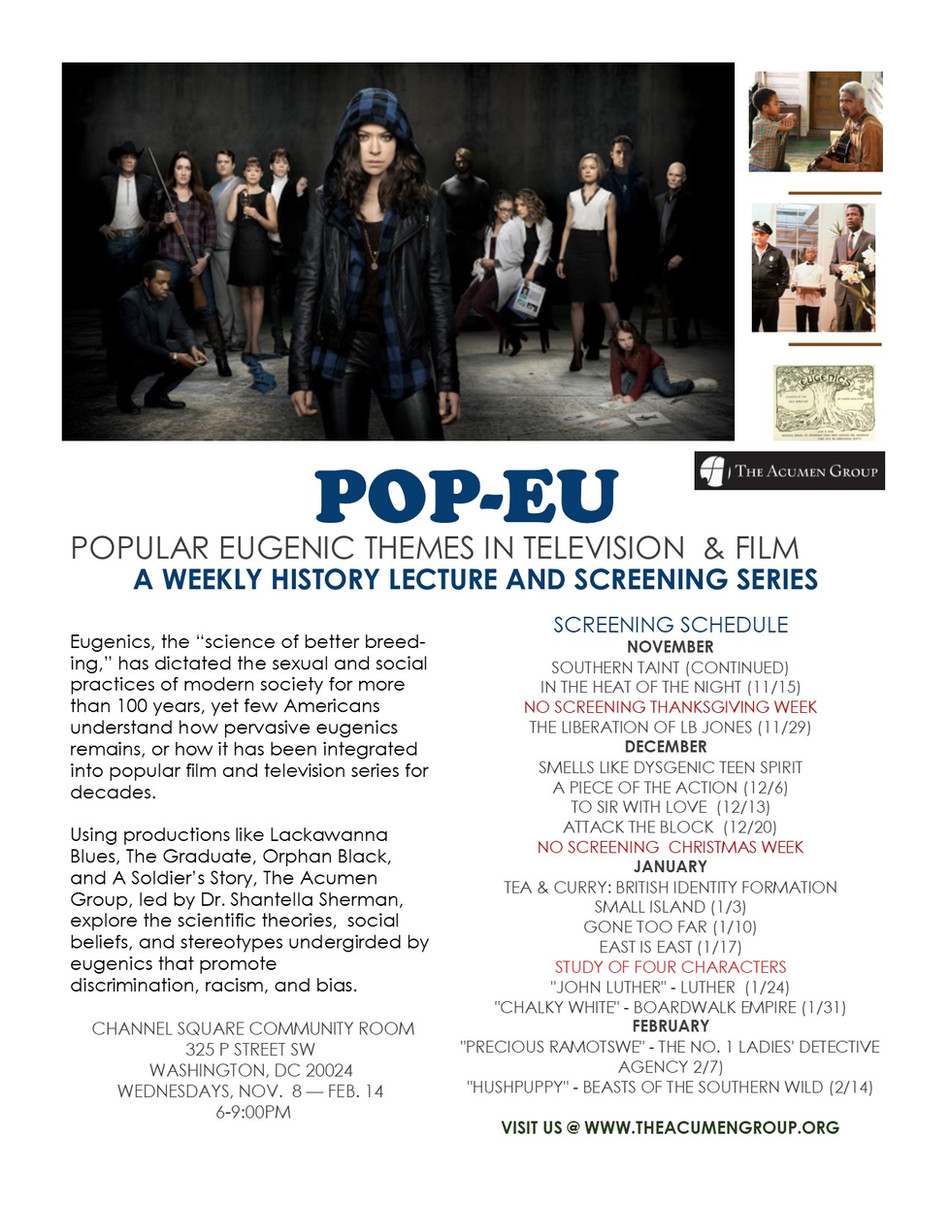 Pop-Eu (Popular Eugenics) Film Series Schedule