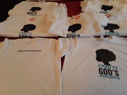Coded to God's Specifications T-shirt