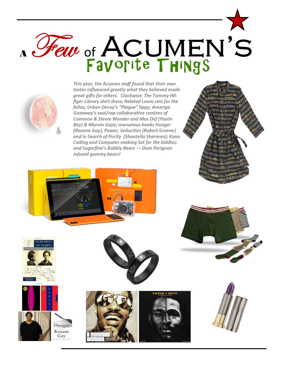 A Few of ACUMEN's Favorite Things!