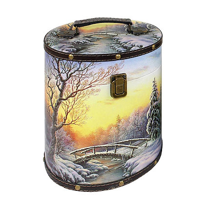 ВЕЧЕРНЯЯ ЗАРЯ 1100г (дерево-кожа)  ТУЕСОК