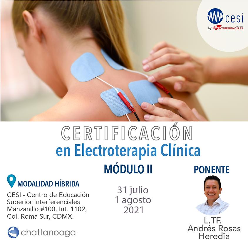Certificación Electroterapia Clínica Módulo II