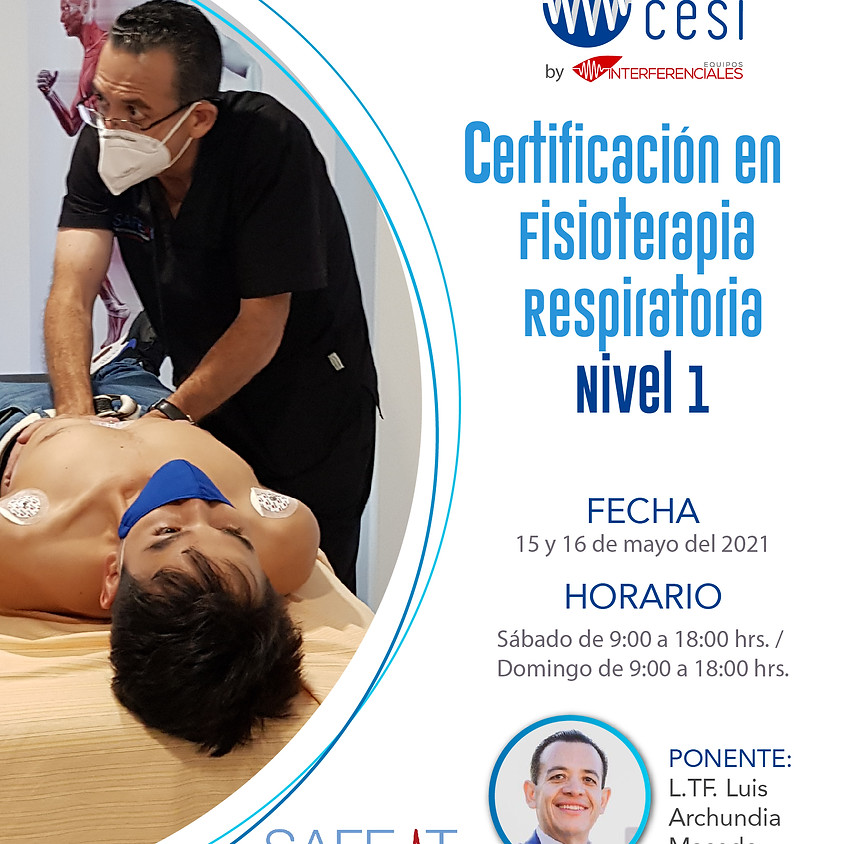 Certificación Fisioterapia Respiratoria Enfoque Fisioterapéutico  NIVEL I