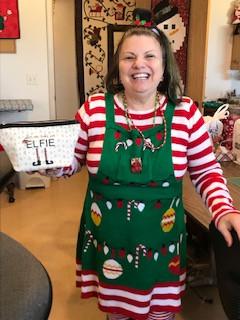 Our friendly Elf Jeannie.