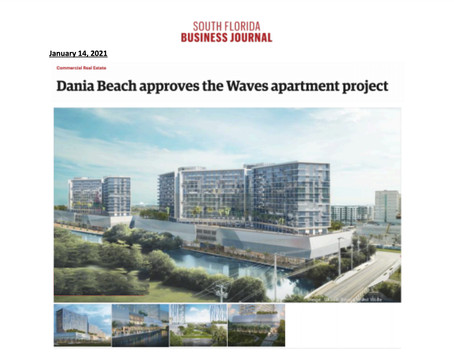 Dania Beach Real Estate - Waves Apartment Complex Approved