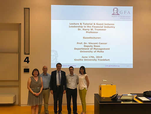 Dr. Trummer: Top Executive Guest Speech with University of Malta at Campus Westend, June 17th, 2019