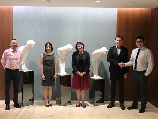 Dr. Trummer visits Barclays in Financial Centre in Singapore, March 2018
