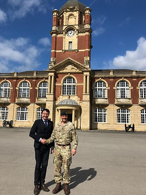 Dr. Trummer visits British Royal Military Academy Sandhurst in UK, March 2019