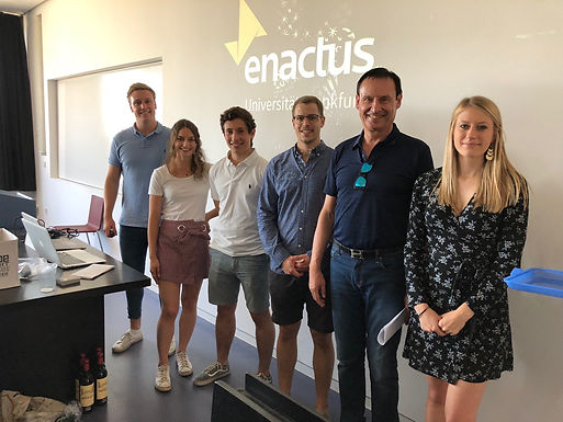 GFA meets Enactus Goethe University Frankfurt Team at Campus Westend, June 30th, 2018