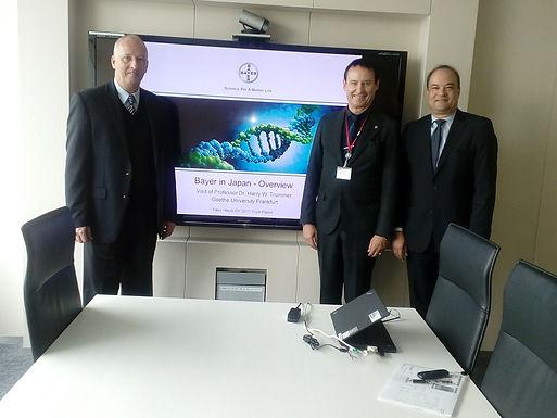 Dr. Trummer visits Bayer AG in Tokyo, March 2017