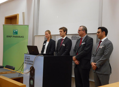 GFA supporter BNP Paribas with Company Presentation at House of Finance, December 2nd, 2015