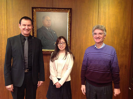 Dr. Trummer visits Keio University on Campus in Tokyo, March 2017