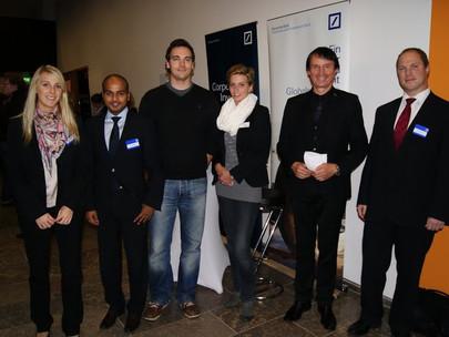 Top-Event mit GFA-Premium-Förderunternehmen Deutsche Bank am Campus Westend am 09.12.10