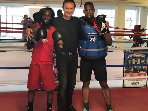 Dr. Harry W. Trummer visits Top Boxing Clubs in London, July 2018