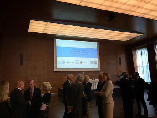 GFA zu Gast bei der Inaugurationsvorlesung des neuen Visiting Chair on Financial History am 13.10.14