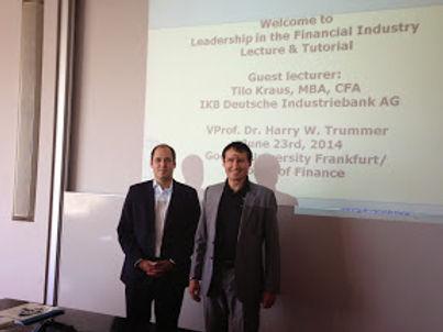 Guest lecture series mit IKB am 23.06.2014 im Campus Westend