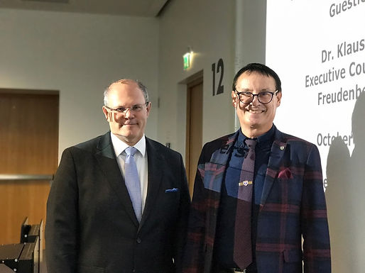 Top Executive Guest Speech with Dr. K. P. Meier at Campus Westend, October 30th, 2017