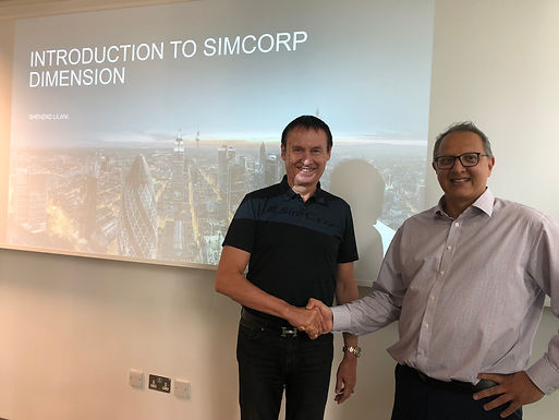 Dr. Trummer visits SimCorp in London, July 2018