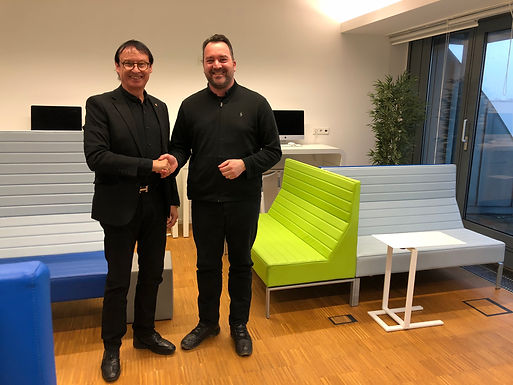 Dr. Trummer visits Hochschule Fresenius on Campus in Berlin in January 2019