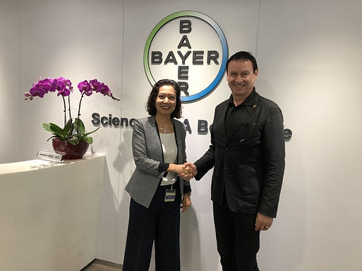 Dr. Trummer visits Bayer AG in Singapore, March 2018