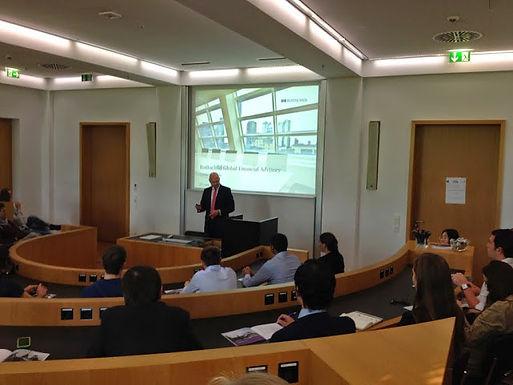 GFA-Supporter Rothschild zu Gast mit Company Presentation im House of Finance am 25.06.2014