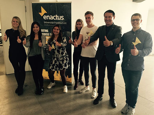 GFA meets Enactus Goethe University Frankfurt Team at Campus Westend, November 4th, 2017