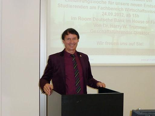 GFA begrüßt die neuen Erstsemester-Studierenden anlässlich der E!Woche am 24.09.2012