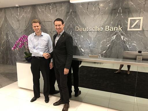 Dr. Trummer visits Deutsche Bank in Financial Centre in Singapore, March 2018