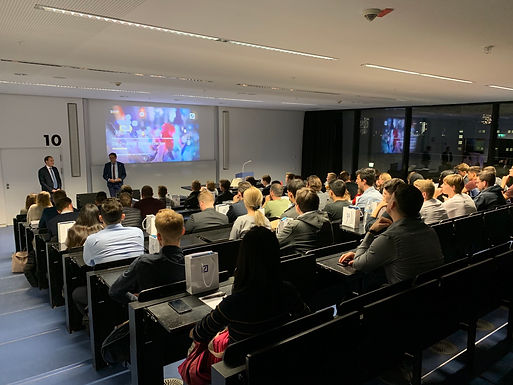 GFA supporter Deutsche Bank with Kick-off-Company Presentation at Campus Westend, October 22nd, 2019