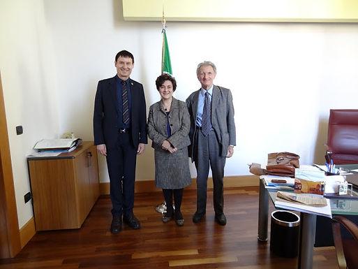 Dr. Trummer in Gast bei der Universität von Catania, Februar 2013