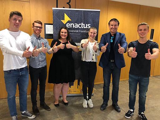 GFA meets Enactus Goethe University Frankfurt Team at Campus Westend, November 3rd, 2018