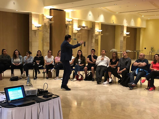 Dr. Trummer gives leadership training and boxing workout in Malta