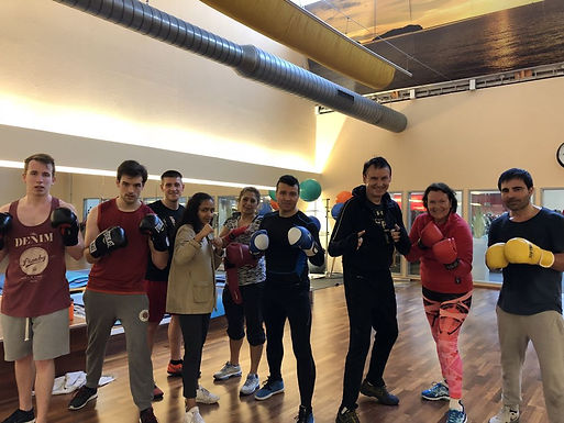 GFA Fitness Boxing Workout for international students, March 25th, 2018