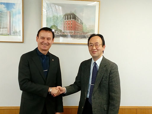 Dr. Trummer visits The University of Tokyo on Campus in Tokyo, March 2017