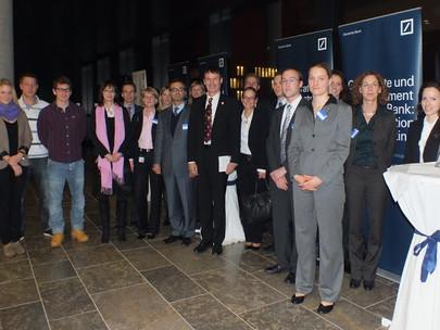 Top-Event mit GFA-Premium-Förderunternehmen Deutsche Bank am Campus Westend am 24.11.11