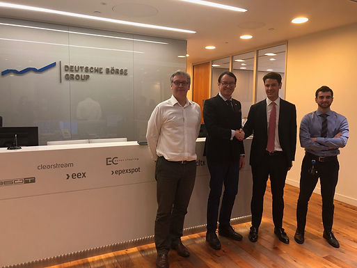 Dr. Trummer visits J.P. Morgan and EUREX Trading and Clearing in London March 2019