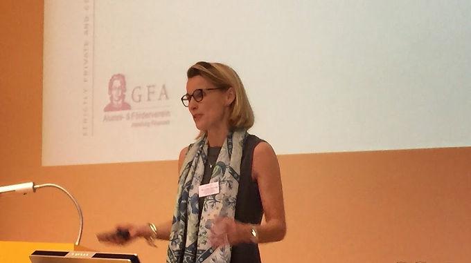 GFA-Supporter J.P. Morgan zu Gast mit Company Presentation im Campus Westend am 30.10.2014