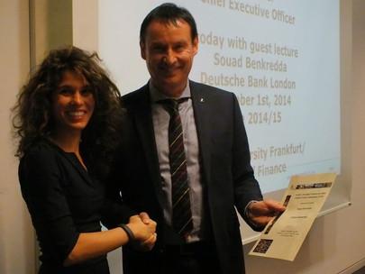 Guest lecture series mit Souad Benkredda am 01.12.2014 im Campus Westend