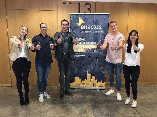 GFA meets Enactus Goethe University Frankfurt Team at Campus Westend, April 28th, 2018