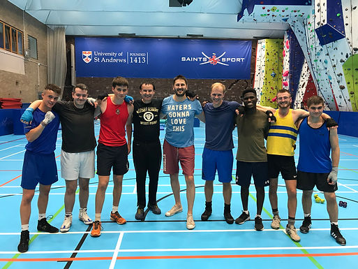 Coach Dr. Trummer gives Boxing-Workout in University of St Andrews, September 2018