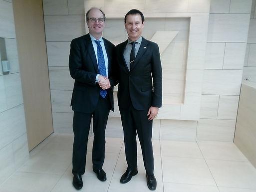 Dr. Trummer visits Deutsche Bank AG in Tokyo, March 2017