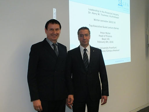 Top Executive Guest Speech with Peter Müller, Bayer AG at Campus Westend, February 8th, 2016