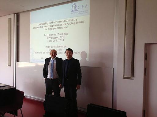 Guest lecture series mit Stefan Zayer am 02.06.2014 im Campus Westend