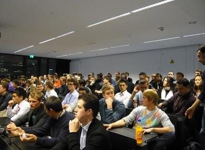 GFA-Förderunternehmen Goldman Sachs mit Präsentation im Hörsaalzentrum/Campus Westend am 25.11.2009