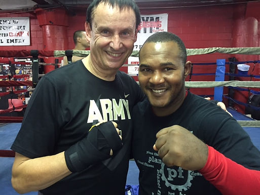 Dr. Trummer gives boxing training at world famous Gleason's Gym New York City, September 3rd, 2015