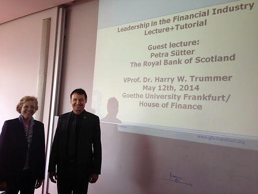 Guest lecture series mit Petra Sütter am 12.05.2014 im Campus Westend