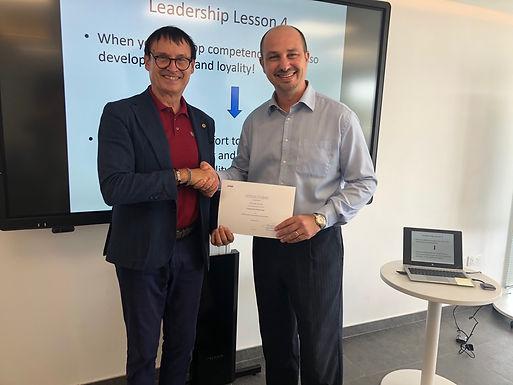 Dr. Trummer gives leadership workshop at KPMG in Malta