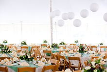 Wedding Tent, Table & Chairs
