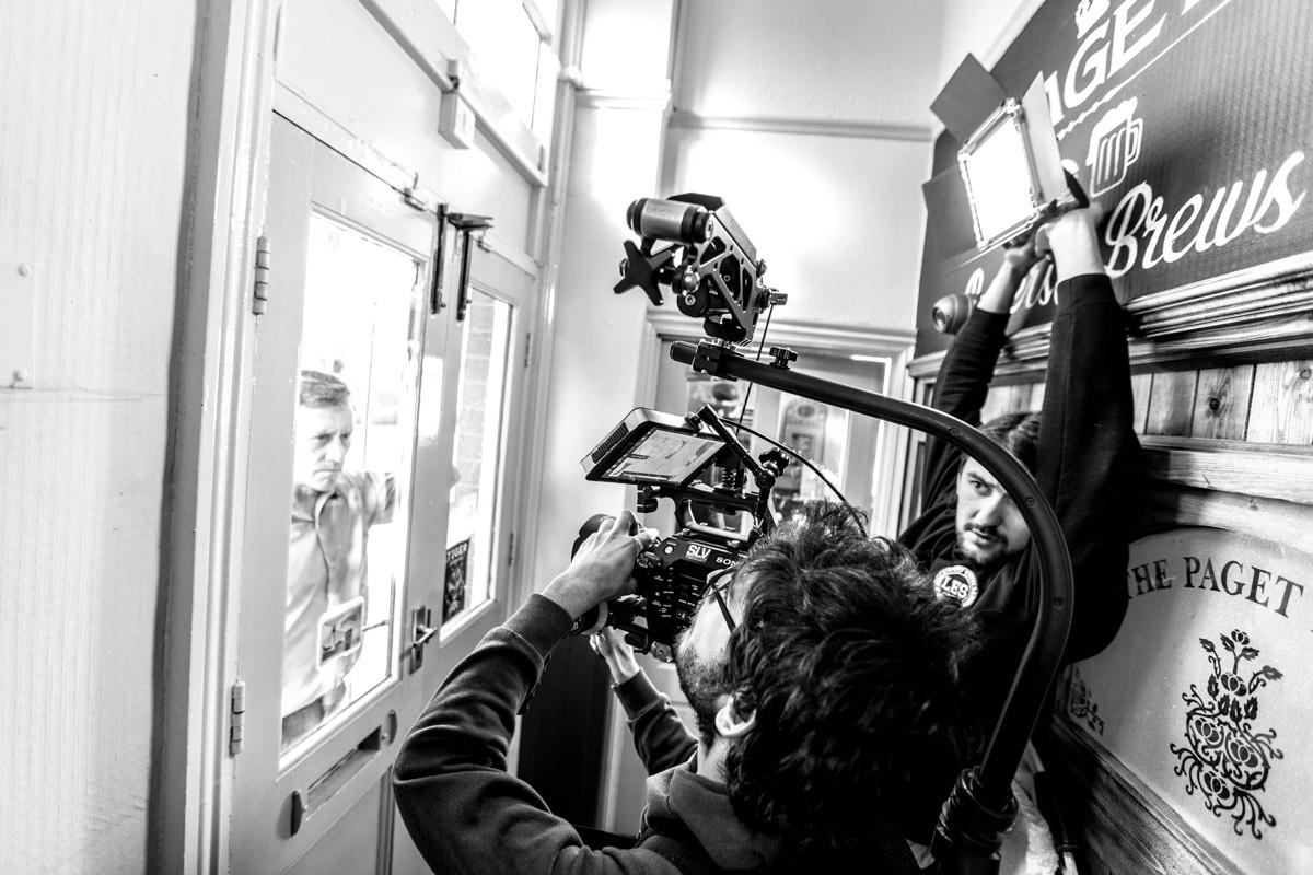Alessandro Oliveri & Ernests Lavrinovics on set.